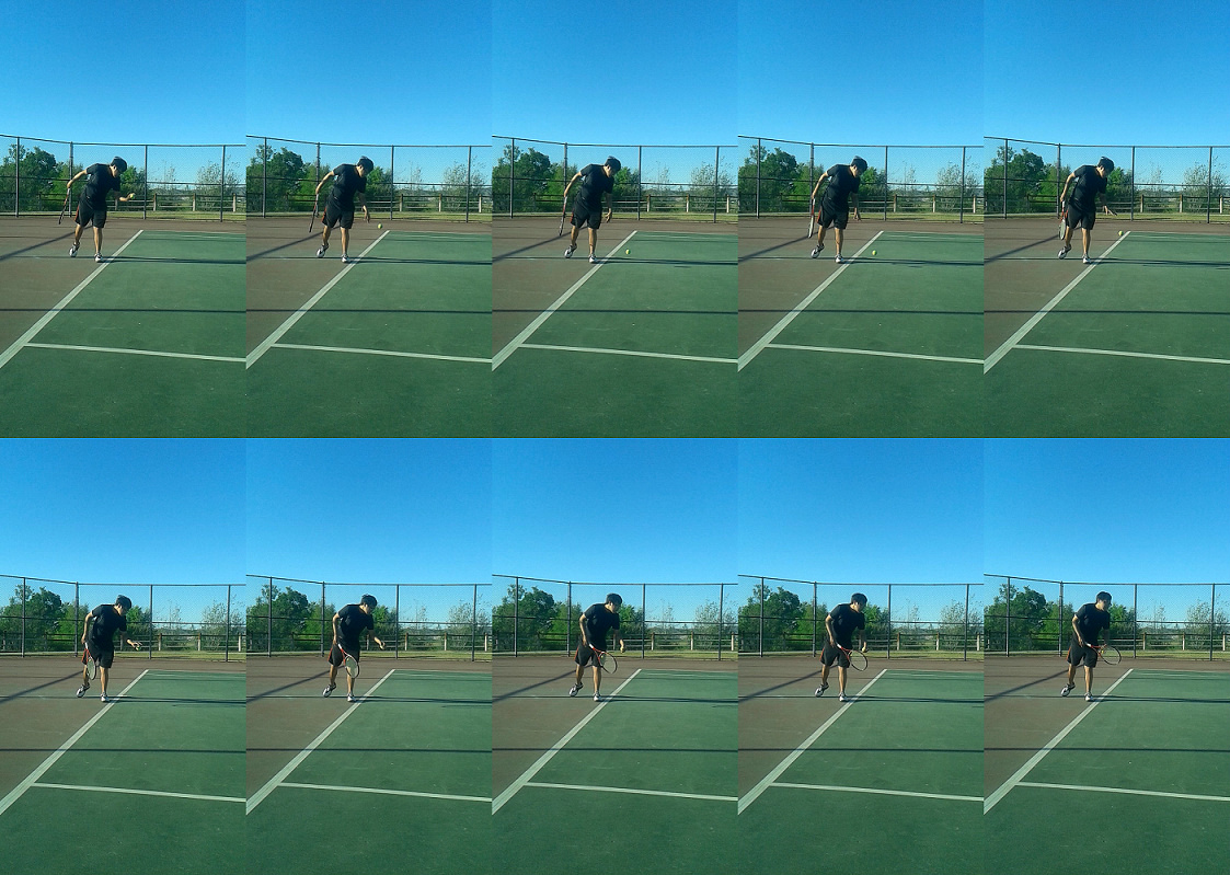 Ball Bounce -  how to serve in tennis - tennis serve