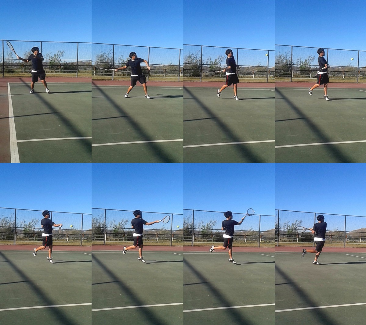 Forehand Flat Shot Compressed - tennis forehand tutorial