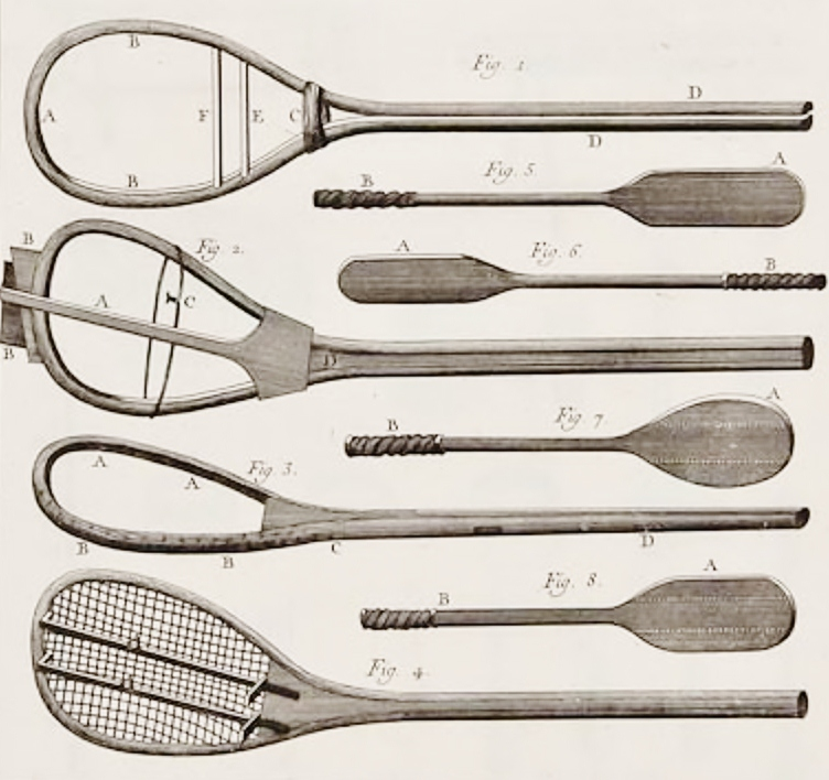 jeu de paume racquets - the complete history of tennis