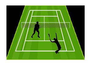 Một chọi một - Chiến thuật đánh quần vợt đôi